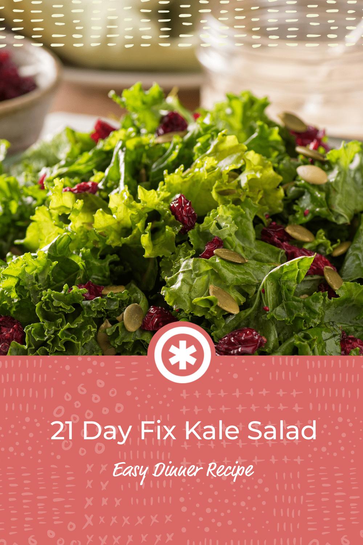 21 Day Fix Recipes_ Delicious & Super Healthy Kale Salad-Guud