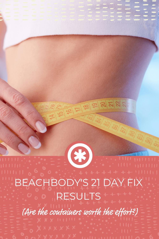 Beachbody's 21 Day Fix Results
