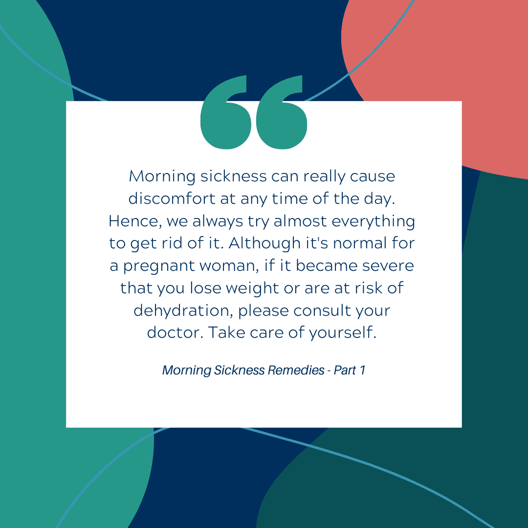 Morning Sickness Remedies - Quote